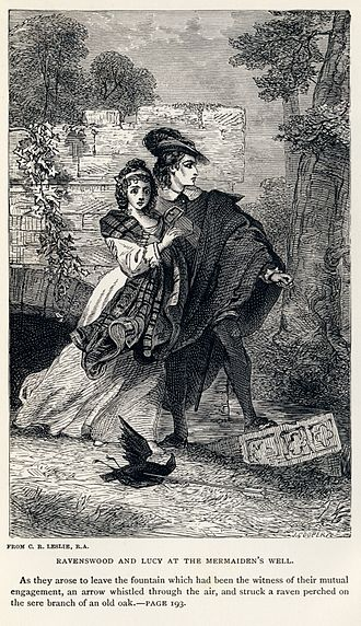 The Bride of Lammermoor - Ravenswood and Lucy at the Mermaiden's Well by Charles Robert Leslie