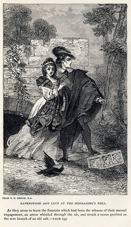File Charles Robert Leslie Sir Walter Scott Ravenswood And Lucy At The Mermaiden S Well Bride Of Lammermoor Jpg Wikimedia Commons