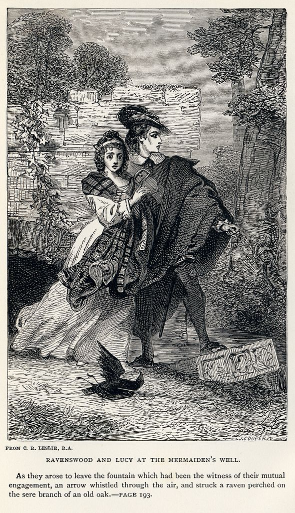 File Charles Robert Leslie Sir Walter Scott Ravenswood And Lucy At The Mermaiden S Well Bride Of Lammermoor Jpg Wikipedia