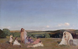 Charles Sims (painter) - Clio and the Children (1913/15)