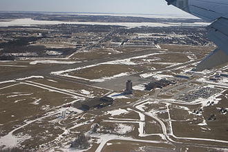 Charlottetown Airport - Image: Charlottetown Airport from the air
