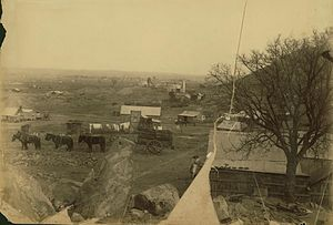 Charters Towers - Charters Towers mining settlement circa 1890
