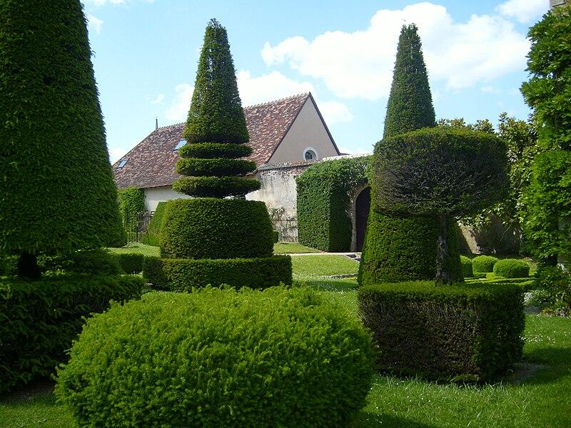 File:Chateau d'Azay-le-Ferron Topiary.JPG