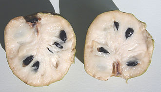 Cherimoya - Split cherimoya fruit