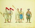 Chevalier Auguste de Henikstein - Bostandgi. Rameurs du G. Seigneur. Bateliers grecs à Constantinople. Batelier turc.jpg