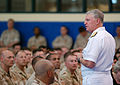 Chief of Naval Operations Adm. Gary Roughead speaks with Sailors and Marines during an all-hands call at Naval Support Activity Bahrain, Aug. 23, 2009 090823-N-YT963-013.jpg