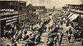 Chile Operarios en huelga abriendo calle para recibir a los obreros de la pampa, 1907.jpg