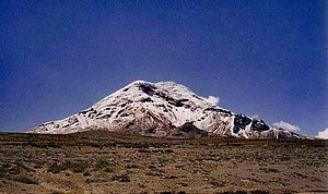 Schiehallion experiment - Chimborazo, the subject of the French 1738 experiment
