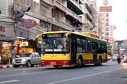 Chinese bus in China town, Bangkok.jpg