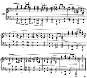 Preludes (Chopin) - Prelude No. 20 in C minor. This prelude, modified slightly, was used as the theme for variations in both Sergei Rachmaninoff's Variations on a Theme of Chopin and in Ferruccio Busoni's Variations on a Theme of Chopin.