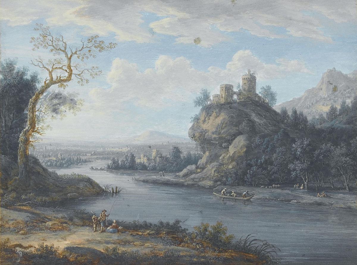 Christoph Ludwig Agricola (zugeschr.) - Eine Flusslandschaft mit Anglern.jpg