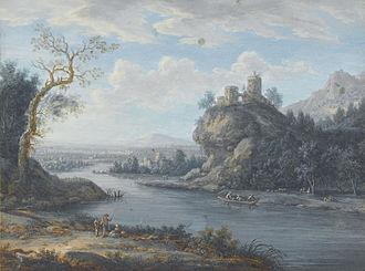 Christoph Ludwig Agricola - Image: Christoph Ludwig Agricola (zugeschr.) Eine Flusslandschaft mit Anglern