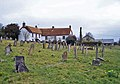 Churchyard and cottages, South Tawton - geograph.org.uk - 1772741.jpg