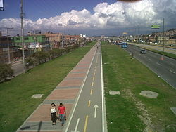 Bike path in Soacha