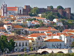 panorama of Silves, showing the Moorish Castle