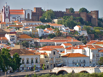 Silves, Portugal - A panorama of Silves, showing the Moorish Castle