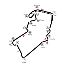 The Silverstone Circuit modified in 2000