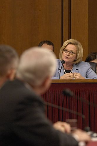 Claire McCaskill - McCaskill speaking during a Senate hearing, January 12, 2007.