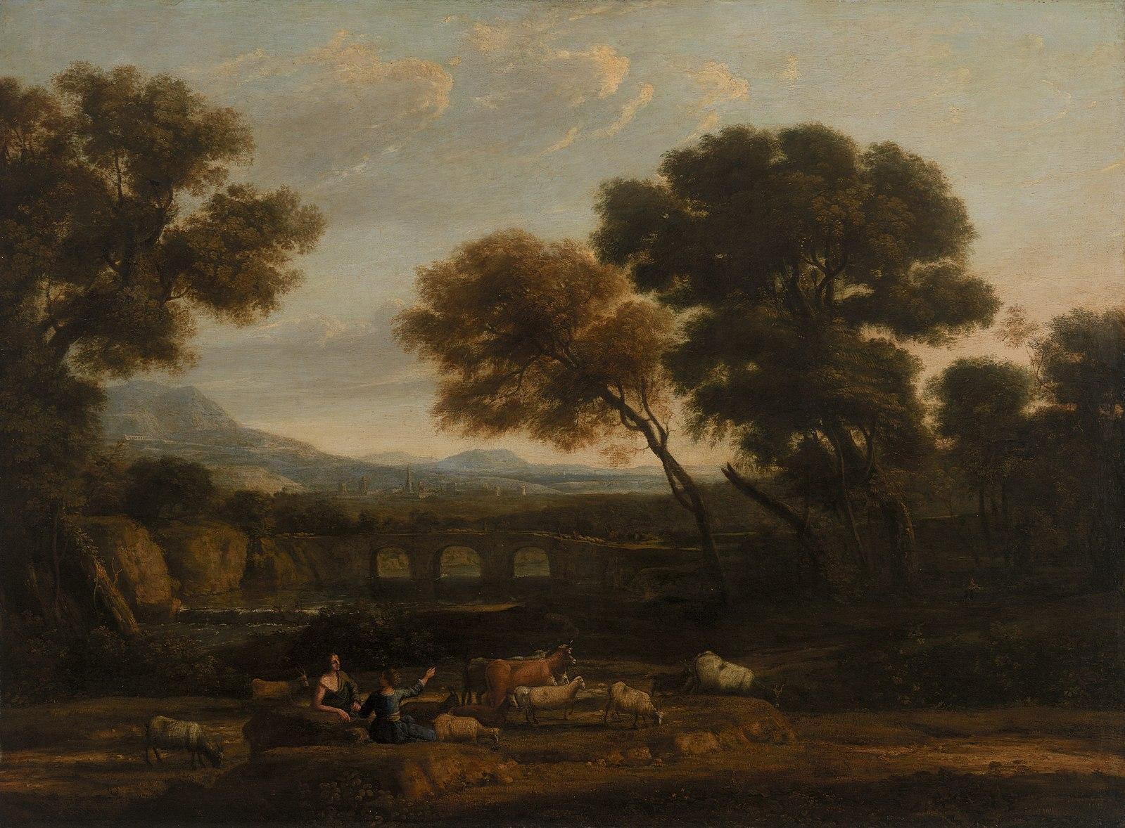 Claude Lorrain, Pastoral Landscape, 1644/45, The Barnes Foundation