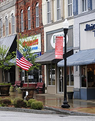 National Register of Historic Places listings in Laurens County, South Carolina - Image: Clinton Commercial Historic District