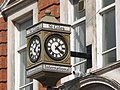 Clock on 154 Southampton Row, WC1 - geograph.org.uk - 1308360.jpg