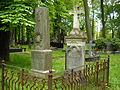 Cmentarz prawosławny na woli groby lebiediewów.JPG