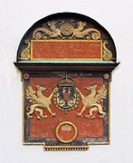 CoA of later Ferdinand I Holy Roman Emperor as King of the Romans 1536 Hofburg Wien Austria.jpg