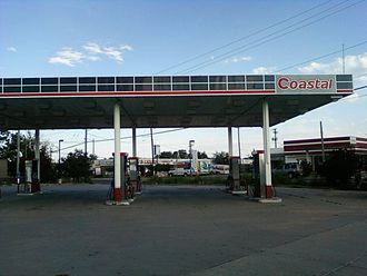 Coastal Corporation - An abandoned Coastal gas station in 2011