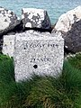 Coastal Path milestone - St Ives - geograph.org.uk - 1835919.jpg