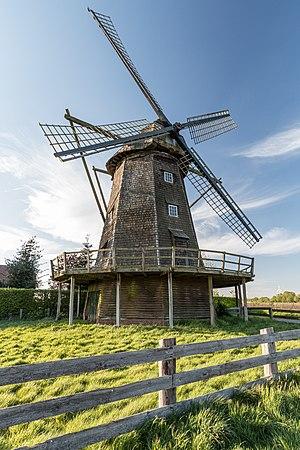 Windmill in Lette, Coesfeld, North Rhine-Westphalia, Germany
