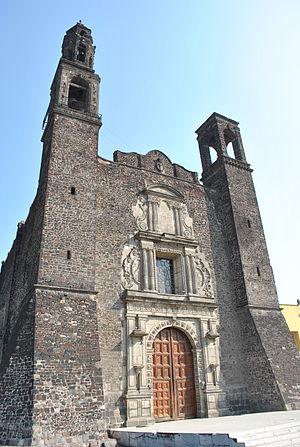 Fray Juan de Torquemada - Western façade of church of Santiago de Tlatelolco