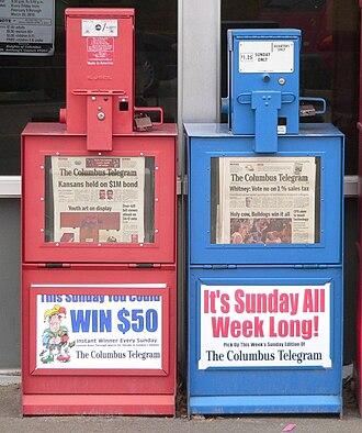 Columbus Telegram - Columbus Telegram vending machines