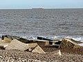 Concrete blocks breaking the waves - geograph.org.uk - 2137828.jpg