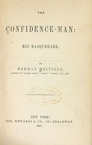 The Confidence-Man - First edition title page