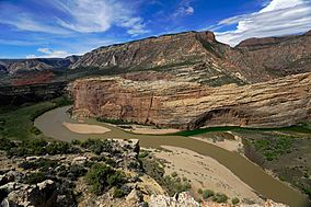 Confluence of the Green and Yampa Rivers (17396238518).jpg