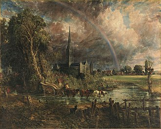 1831 in art - Constable – Salisbury Cathedral from the Meadows