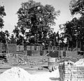 Construction of staff housing, Satbarwa, India, 1962 (16946223315).jpg