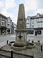 Contrasting messages on Harford Fountain, Harford Square, Lampeter - geograph.org.uk - 6178011.jpg