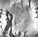 Cooper Glacier, icefield source of valley glacier, firn line, and bergschrund, September 17, 1966 (GLACIERS 6459).jpg