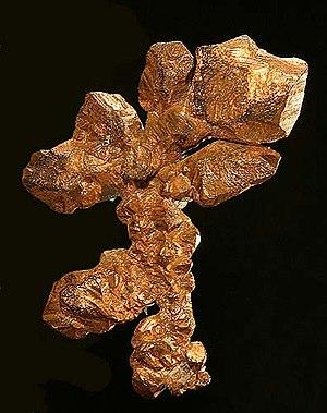 Kearny, Arizona - Native copper from the nearby Ray Mine