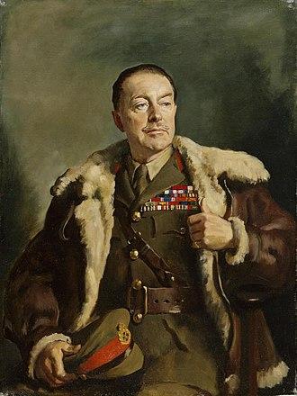 Oswald Birley - Portrait of General Harold Alexander by Birley in 1940