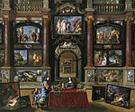 Coques, Gonzales - Interior with figures before a picture collection - 1672, 1706.jpg