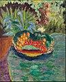 Corbeille de fruits sur une table dans le jardin du Cannet.JPG