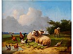 Cornelius van Leemputten - Idylle with sheep and poultry.jpg