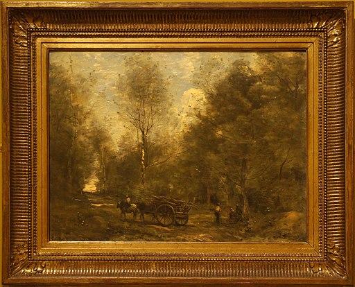 Corot une allée dans les bois Wagnonville 06992