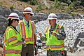Corps' deputy commanding general tours Folsom spillway project (17575336722).jpg