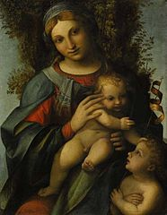 Madonna and Child with infant St John the Baptist