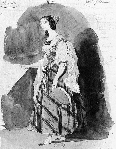 File:Costume design by Louis Boulanger for Cornélie Falcon in La Esmeralda by Louise Bertin - NGO1p451.jpg
