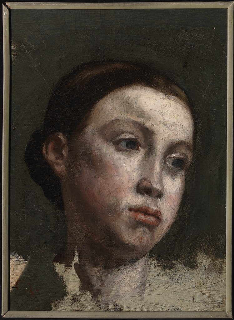 Portrait Ofa Girl 14 Years In Nature Stock Image: File:Courbet, Gustave, Portrait Of A Young Woman.jpg