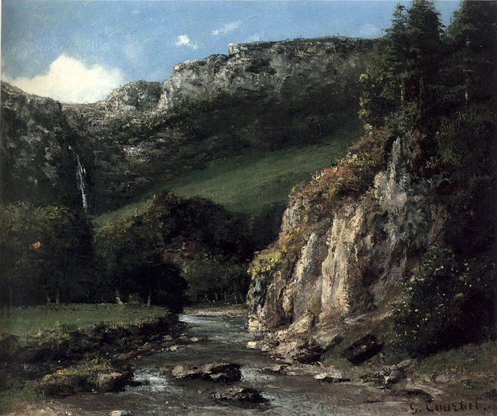 file courbet stream in the jura mountains the torrent oil on canves 1872 wikimedia. Black Bedroom Furniture Sets. Home Design Ideas